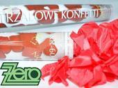 Konfety vystřelovací 60 cm - plátky růží červené,