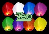 Lampión štěstí mix barev,