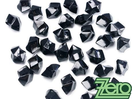 Kamínky v imitaci křišťálu 25 mm (50 ks) - černé - Obrázek č. 1