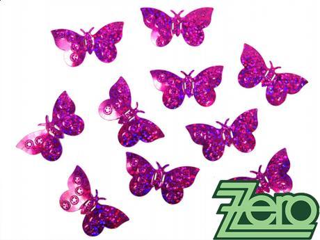Konfety motýlci - tmavě růžová - Obrázek č. 1