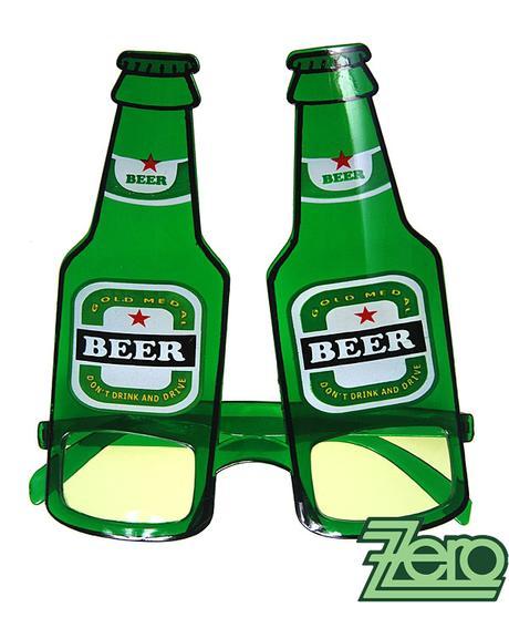 """Brýle párty """"pivo"""" - zelené - Obrázek č. 3"""