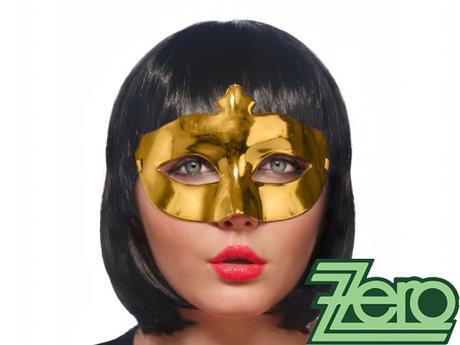 Maska/škraboška - zlatá - Obrázek č. 2