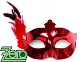 Maska/škraboška - červená,