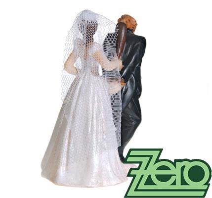 """Figurka na dort """"novomanželé"""" - Obrázek č. 2"""