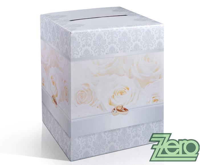 Krabička (truhlička) svatební na přání - stříbrná  - Obrázek č. 1