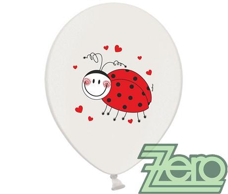 Balónky nafukovací Ø 36 cm (5 ks) - berušky - Obrázek č. 1