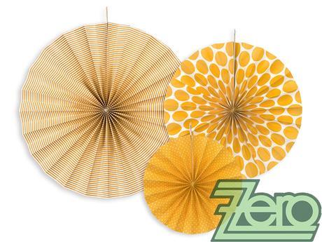 Rozety závěsné (3 velikostí) - oranžové - Obrázek č. 1