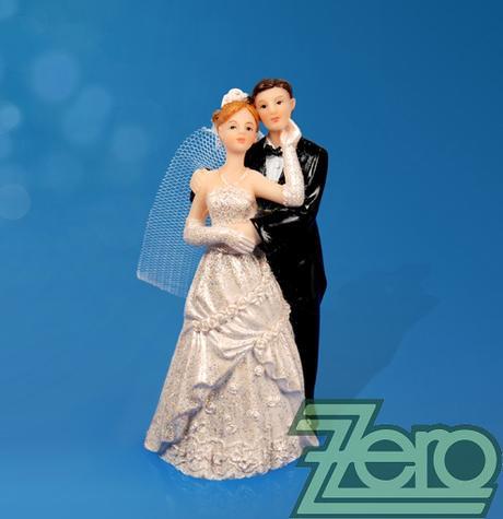 """Figurka na dort """"novomanželé"""" - Obrázek č. 1"""