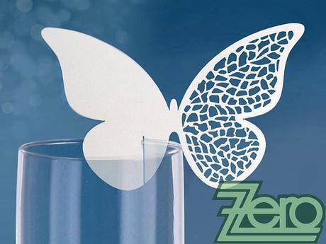 Vizitka/jmenovka na skleničku s motýlem (10 ks) - Obrázek č. 1