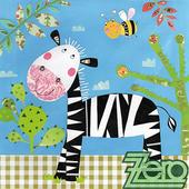 Ubrousky papírové s potiskem 20 ks - zebra,