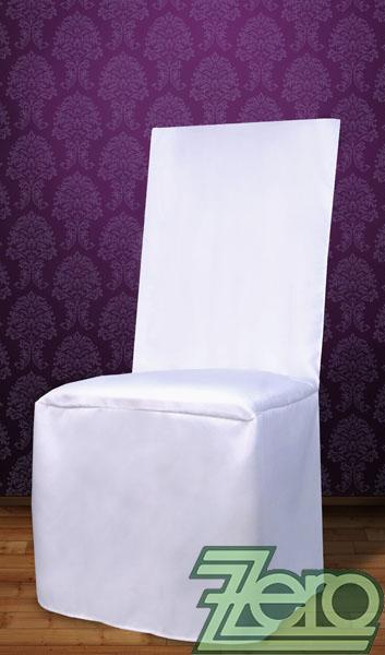 """Potah na židli univerzální """"satén"""" - bílý   - Obrázek č. 1"""