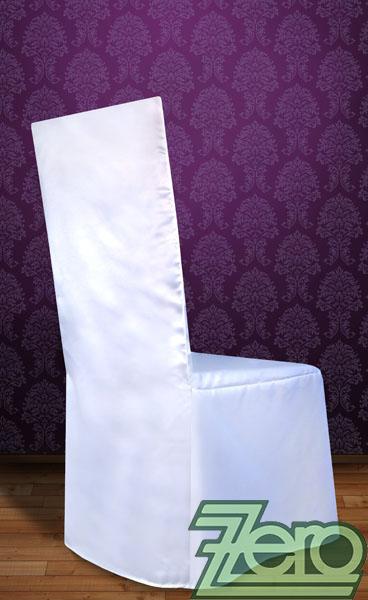 """Potah na židli univerzální """"satén"""" - bílý   - Obrázek č. 2"""