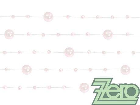 Girlanda z perel 5 ks x 130 cm - sv. růžová - Obrázek č. 1
