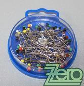 Špendlíky s barevnou hlavičkou (10 g) - mix,