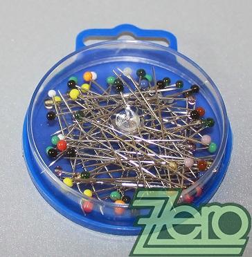 Špendlíky s barevnou hlavičkou (10 g) - mix - Obrázek č. 1