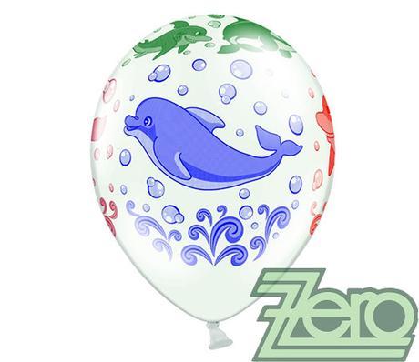Balónky nafukovací Ø 36 cm (5 ks) - delfíni - Obrázek č. 3