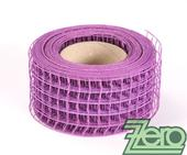"Stuha ""síťka"" 5,5 cm x 10 y -  purpurově fialová,"