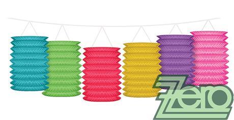 """Girlanda papírová """"lampióny"""" 3,6 m - barevné - Obrázek č. 1"""