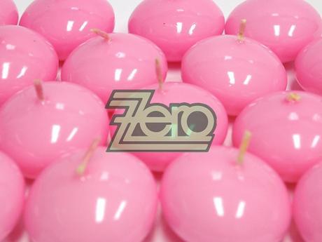 Svíčky plovoucí 10 ks, pr. 4,5 cm - světle růžové - Obrázek č. 1