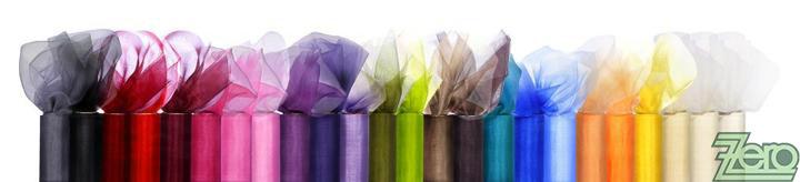 Organza 16 cm x 9 m - různé barvy - Obrázek č. 1