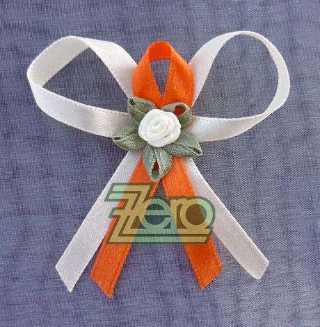 Vonička, vývazek pro svatebčany - bílo-oranžová - Obrázek č. 1