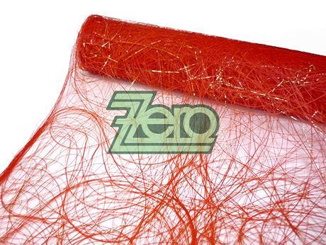 """Sizofiber """"pavučinka"""" 50cm x5m-červená se zlatým - Obrázek č. 1"""