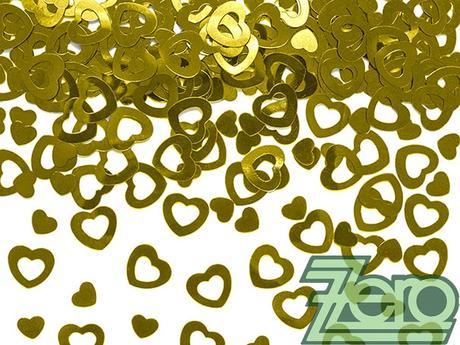 Konfety kovové - zlatá srdíčka - Obrázek č. 1