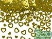 Konfety kovové - zlatá srdíčka,