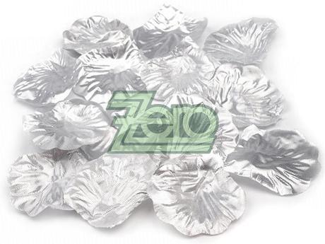 Plátky růží 100 ks - stříbrné - Obrázek č. 1