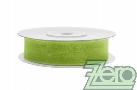 Stuha šifónová 12 mm x 25 m - zelená - Obrázek č. 1