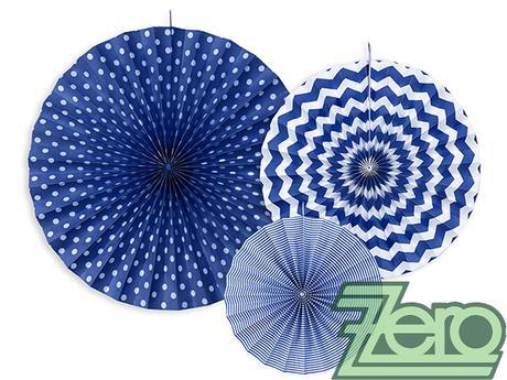 Rozety závěsné (3 velikostí) - tm. modré - Obrázek č. 1