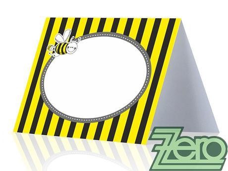 AKCE Vizitka/jmenovka (6 ks) - žlutá s tiskem - Obrázek č. 2