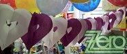 Girlanda papírová SRDCE 4 m - bílo-fialová,