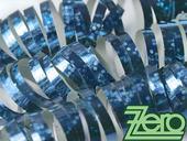 Serpentýny holografické 18 ks x 4 m - sv. modrá,
