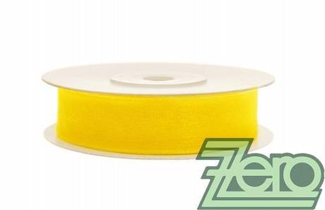 Stuha šifónová 12 mm x 25 m - žlutá - Obrázek č. 1