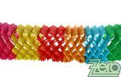 Girlanda papírová 3 m - barevná,