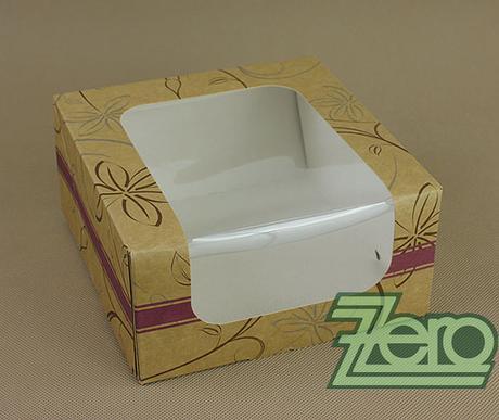 Krabička papírová s okýnkem a tiskem 18x18x8,8 cm - Obrázek č. 1