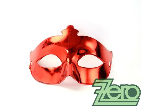 Maska/škraboška - červená - Obrázek č. 1