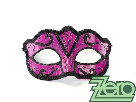 Maska/škraboška - fuchsie-černá - Obrázek č. 1