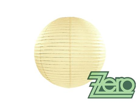 Lampión závěsný papírový pr. 25 cm - krémový - Obrázek č. 1