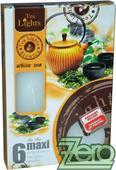Svíčka čajová pr. 6 cm (6 ks) s vůní - bílá,
