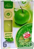 Svíčka čajová pr. 6 cm (6 ks) s vůní - zelená,