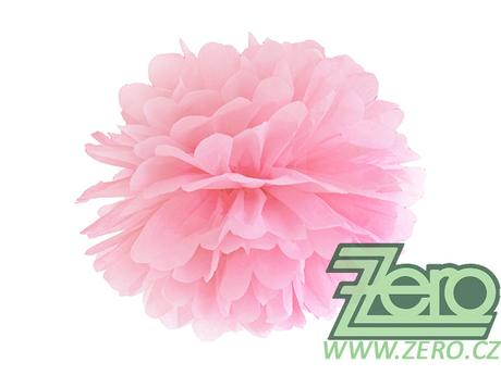 Pom poms papírový pr. 35 cm - sv. růžový - Obrázek č. 1