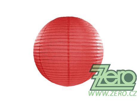 Lampión závěsný papírový pr. 25 cm - červený - Obrázek č. 1
