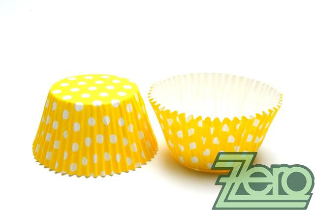 """Košíčky na muffiny """"PUNTÍK"""" 51x38mm (30ks) - žlutá - Obrázek č. 1"""