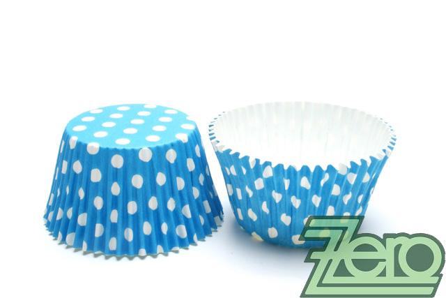 """Košíčky na muffiny """"PUNTÍK"""" 51x38mm (30ks) - modrá - Obrázek č. 1"""