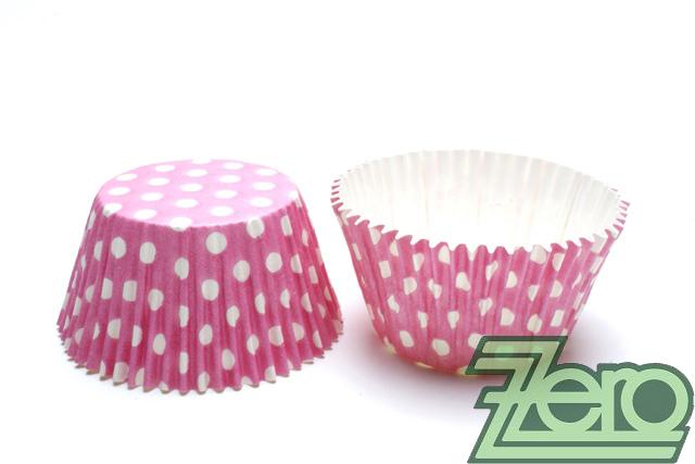 """Košíčky na muffiny """"PUNTÍK"""" 51x38mm (30ks)-růžová - Obrázek č. 1"""