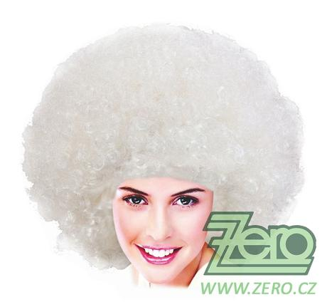 Paruka afro - bílá - Obrázek č. 1