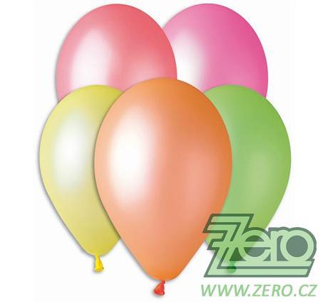 Balónky nafukovací Ø 26 neonové 20 ks - mix - Obrázek č. 1