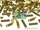 Konfety vystřelovací 40 cm - zlaté,